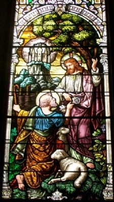 St. Fidelis Catholic Church Stained Glass Detail image. Click for full size.