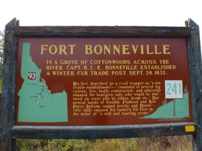 Fort Bonneville Marker Photo, Click for full size