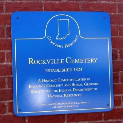 Rockville Cemetery Marker image. Click for full size.
