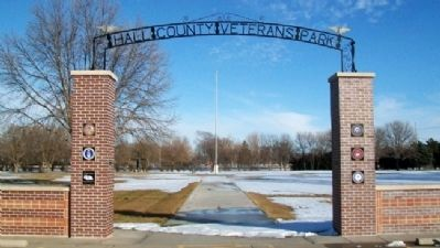 Hall County Veterans Memorial Park Entrance image. Click for full size.