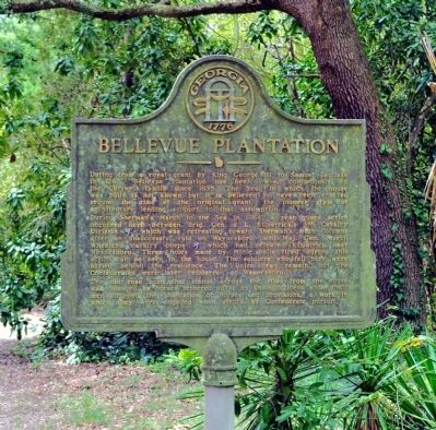 Bellevue Plantation Marker Photo, Click for full size