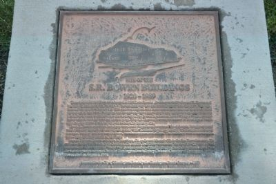 Site of the S.R. Bowen Buildings Marker Photo, Click for full size
