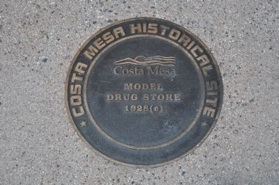 Model Drug Store Marker Photo, Click for full size