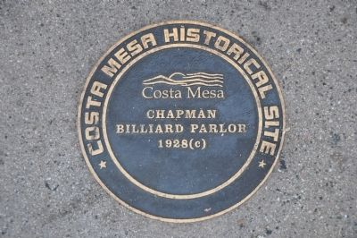 Chapman Billiard Parlor Marker image. Click for full size.