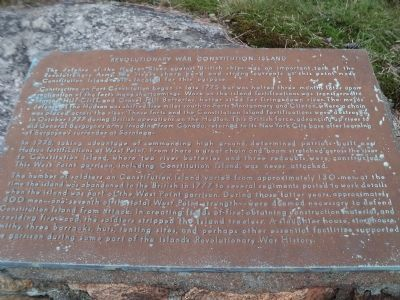 Revolutionary War Constitution Island Marker image. Click for full size.