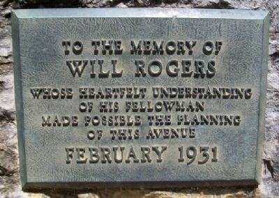 Will Rogers Marker image. Click for full size.