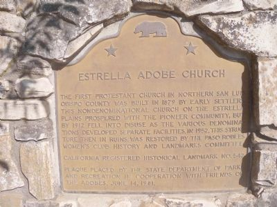 Estrella Adobe Church Marker Photo, Click for full size