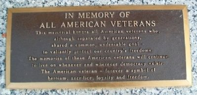 Veterans Memorial Marker Photo, Click for full size