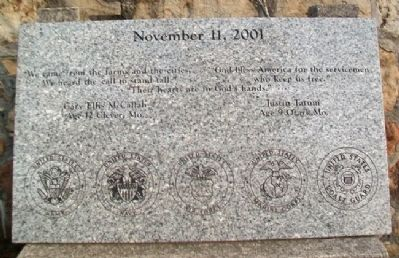 9/11 Memorial Marker Photo, Click for full size