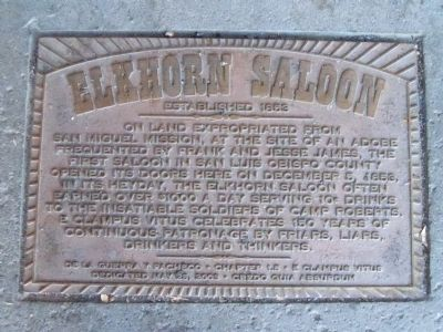 Elkhorn Saloon Marker Photo, Click for full size
