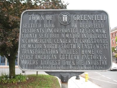 Town of Greenfield Marker image. Click for full size.