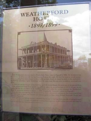 Weatherford Hotel Marker Photo, Click for full size