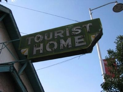 Tourist Home Sign image. Click for full size.