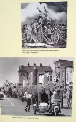 British Soldiers and Circus Elephants Photo, Click for full size
