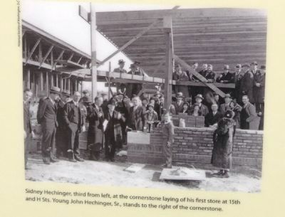 Hechinger Cornerstone Laying Photo, Click for full size