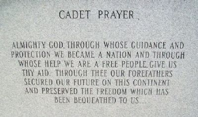 Oklahoma Military Academy War Memorial Cadet Prayer Photo, Click for full size