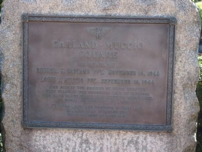 Garland - Muccio Square Marker Photo, Click for full size