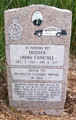 Trooper Larry Crabtree Memorial Photo, Click for full size