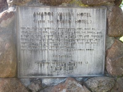 Amador Valley Hotel Marker Photo, Click for full size