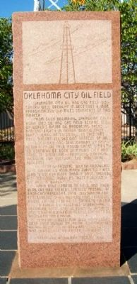 Oklahoma City Oil Field Marker image. Click for full size.