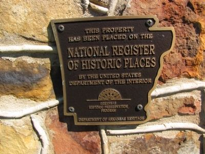 Fitzgerald's Station National Register of Historic Places plaque image. Click for full size.