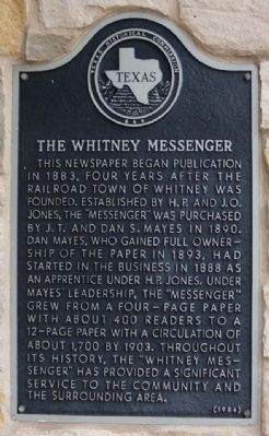 Whitney Messenger Marker Photo, Click for full size