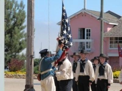 Re-Enactment of the Raising of the Stars & Stripes Over the Custom House image. Click for full size.