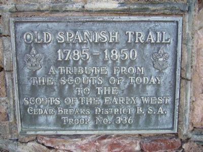 Old Spanish Trail Monument image. Click for full size.