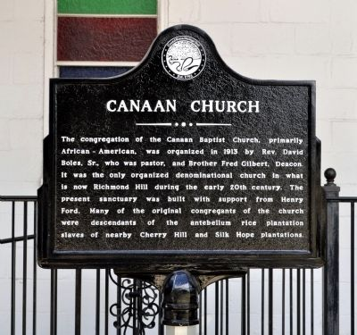 Canaan Church Marker Photo, Click for full size