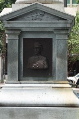 Jacksonville Confederate Monument, south face; bust of J. J. Dickinson image. Click for full size.