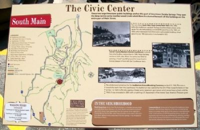 The Civic Center Marker Photo, Click for full size