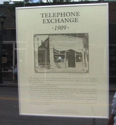 Telephone Exchange Marker Photo, Click for full size
