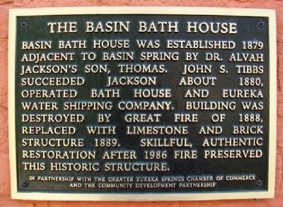 The Basin Bath House Marker image. Click for full size.