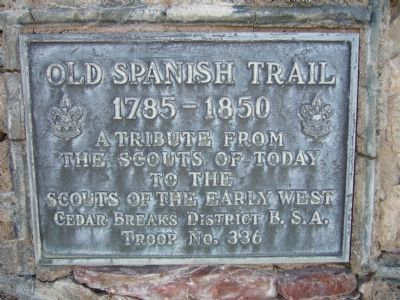 Old Spanish Trail Marker image. Click for full size.