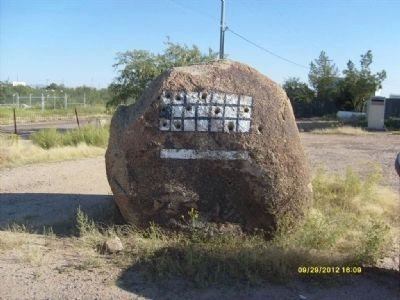 One of Several Drilling Rocks at the Marker Site. Photo, Click for full size