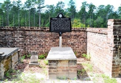 George W. McAllister Marker and Grave image. Click for full size.