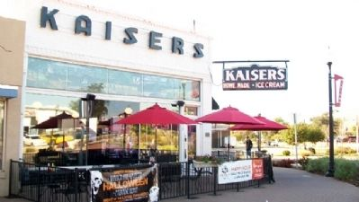 Kaiser's Ice Cream Parlour and Marker Photo, Click for full size
