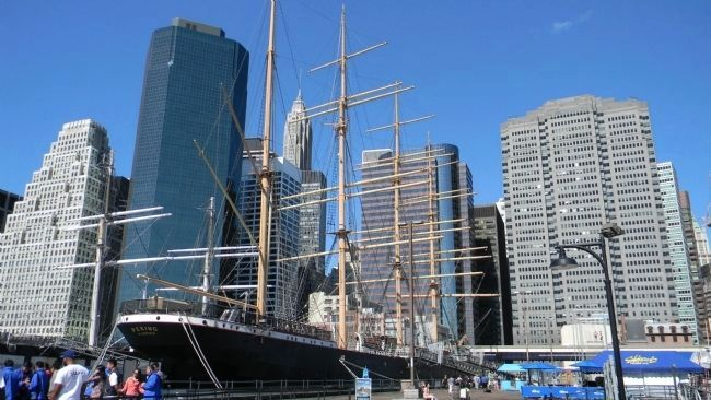 <i>Peking</i> moored at the South Street Seaport image. Click for full size.