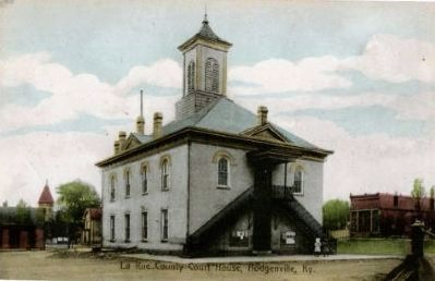 1910 Courthouse - Hodgenville, Kentucky Photo, Click for full size