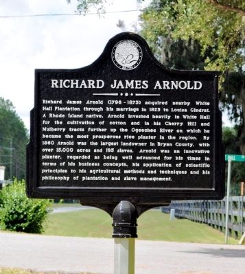 Richard J. Arnold Marker Photo, Click for full size