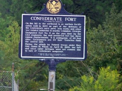 Confederate Fort Marker image. Click for full size.