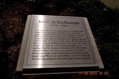 Korczak Ziolkowski Marker Photo, Click for full size