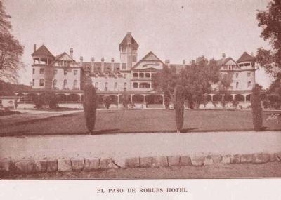 Postcard View of Hotel El Paso de Robles image. Click for full size.