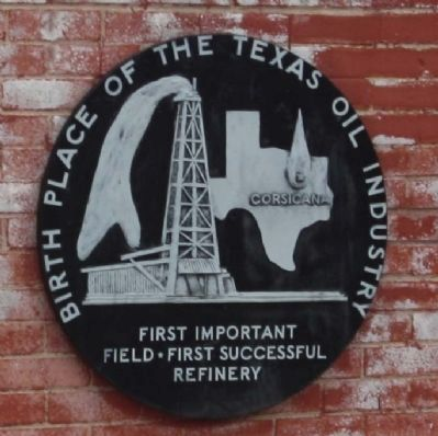 The Birthplace of the Texas Oil Industry Medallion Photo, Click for full size