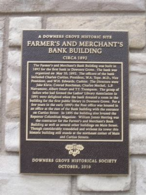 Farmer's and Merchant's Bank Building Marker image. Click for full size.