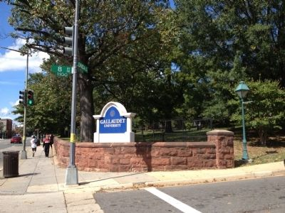 Gallaudet University Entrance Photo, Click for full size