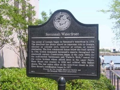 Savannah Waterfront Marker Photo, Click for full size