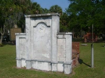 Habersham Marker and Vault Facing image. Click for full size.