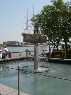Waterfront Fountain Photo, Click for full size