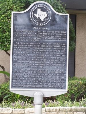 Corsicana Marker Photo, Click for full size